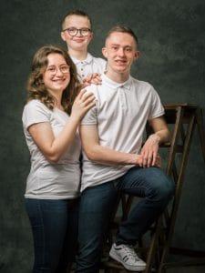 photographe de famille, portrait de Famille, studio photo, photographe famille Mourmelon