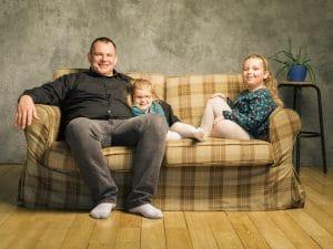 photographe de famille, portrait de Famille, studio photo, photographe famille Groupon